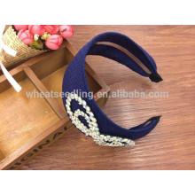 new design girls handmade fabric hairbands fashion headbands