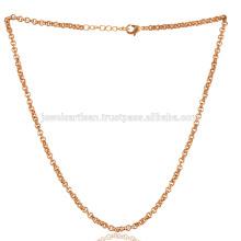 Dainty 18K Gold Plated Brass Chain em 20 polegadas Length Wear as Bracelet