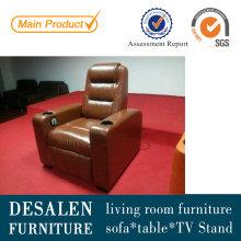Sofá reclinable de cuero alta calidad Home Theater (G021)