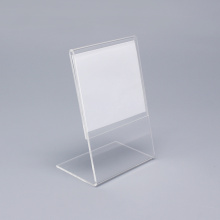 Clear Small Lucite Standing Sign Holder