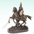 Knight Home Deco Warrior Sculpture Bronze Statue Tpy-452