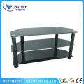 Concepts de commodité Design Black 3-Tier Wide TV Stand