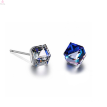 Wholesale Antique Silver Crystal Earrings Jewelry 925