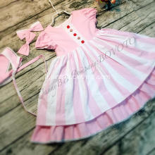 Robe remake boutique WD Wolf rose stripe