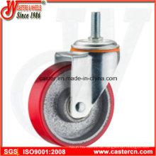 5 Zoll Medium Duty Swivel PU auf Stahl Caster mit Stiel