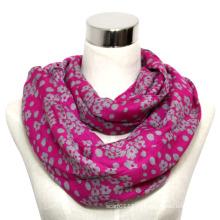 Леди мода печатных хлопок вуаль бесконечности шарф (YKY1012)