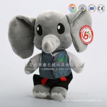 China fábrica venda direta de pelúcia brinquedos animais elefante branco