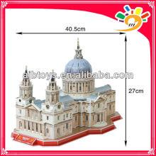 107PCS Weltarchitektur SAINT PAULS KATHEDRALE 3D Modell Gebäude Puzzle DIY Papier Puzzle Puzzle für Kinder