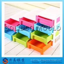 Armário plástico barato, molde plástico da injeção da gaveta do recipiente de armazenamento