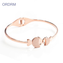 Populaire Meisjes Fish Charm Thin Bangle Armbanden