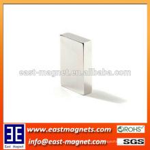 El neodimio magnético N45 de los dispositivos de N45 bloquea la forma del bloque del imán de NdFeB / niquelado para la venta