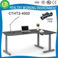 Угловые L-образные сидеть стоять электрический контроль высоты регулируемый исполнительный офис стол для европейского рынка