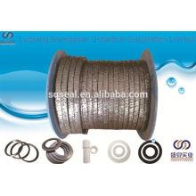 Bonne qualité graphite ptfe glande d'emballage avec aramide dans les coins tressé emballage bon prix