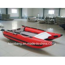 Глаз улавливая надувная лодка со скоростью красного цвета, гребная лодка с конусом из стекловолокна с маркировкой CE China