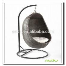 Audu Rattan al aire libre silla colgante del huevo / silla oval del huevo / silla colgante del huevo