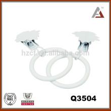 Accesorios de la barra de la cortina, anillos del clip del metal, anillo pintado