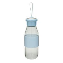 Einwandige Tee Glasflasche mit Schleife 360ml