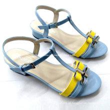 2016 novo estilo de moda verão senhoras sapatos de salto alto sandálias