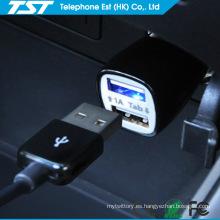 Promocional colorido 5V2.1A Universal Dual USB cargador de coche del teléfono