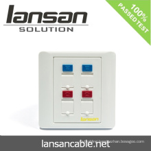 RJ45 Face Plate For Cable Solution In China