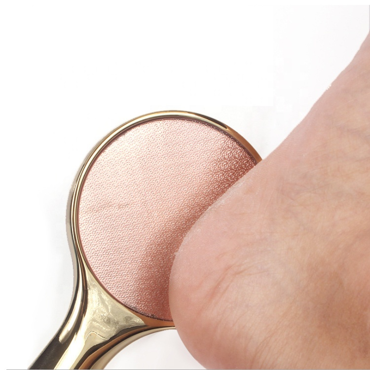 China Supplier Directly Sale No Electric Foot File Round Shaped Crystal glass Foot File