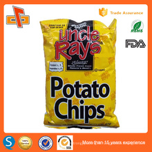 Printing empty food grade aluminum foil potato chips bag packaging