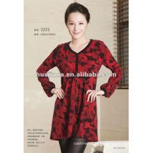 Vestido de camisola feminina de malha de cashmere anti-pilling