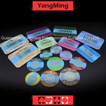 Puce de poker Bronze Couronne avec lumière UV (YM-CP003-004)