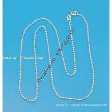 Gets.com 925 стерлингов серебряная цепь для колье