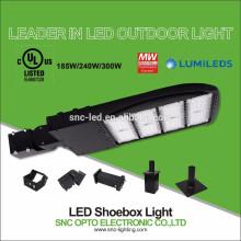 LED Shoebox Fixture 240W, Adjustable Slip Fitter, 5000K, UL DLC Listed