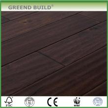 Plancher de bois franc brun acacia ondulé