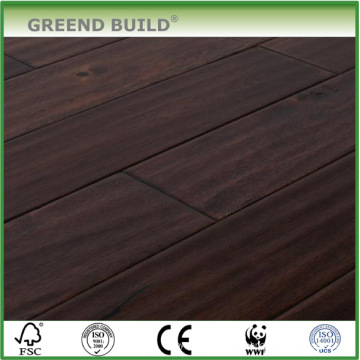 Brown onduló pisos de madera de acacia