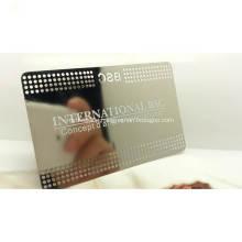 Stainless Steel Electroplate Matt Blank Metal Business Card