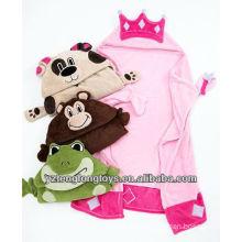 Suave vario mantas de felpa con cabeza de animal para los niños