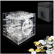 OEM Transparent PP Saving Box Money Box with Maze Design