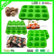 Molde profesional del molde del mollete de la torta de silicón / moldes del mollete del silicón