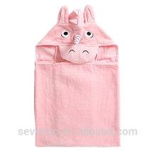 Haute qualité licorne 100% bambou rose filles bébé serviette à capuchon super moelleux prime bébé salive bébé serviette de bain