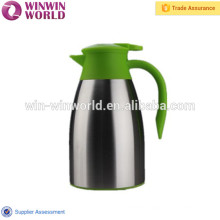 Hot Selling Unbreakable Colored Handle Double Wall Stainless Steel Coffee Pot