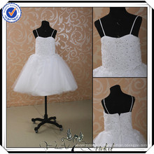FF0005 Latest dress design Beaded lace kids ball gown flower girl dresses for wedding