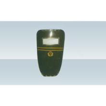 Escudo antidisturbios de plástico reforzado con fibra de vidrio verde militar