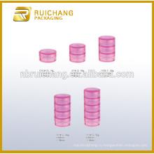 10g / 20g / 30g / 40g / 50g многослойный пластиковый косметический контейнер / банку, косметический крем для сливок, пластиковый косметический фляга, пластиковый косметический контейнер