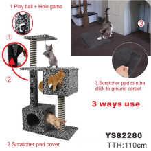 Deluxe felices mascotas casa del árbol del gato (ys82280)