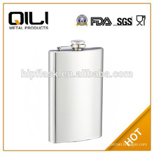 10oz matt finished plain stainless steel metal hip flask for promotion