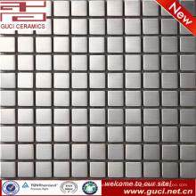 Fuente de la fábrica de foshan Azulejo de mosaico cuadrado de acero inoxidable para el mostrador de la tienda