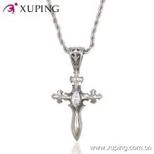 Colgante de joyería de acero inoxidable con forma de espada CZ Cross Fashion -endant-00004