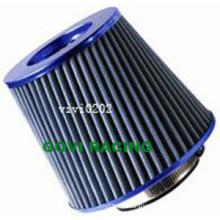 Chromed Blue Air Filter 76mm Universal Air Element Filters