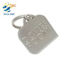 High Quality Custom Logo Hand Stamped Custom Promotional Gifts Keychain