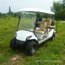 6 passenger electric powered sightseeing bus /golf cart with two back towards seater