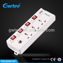 ac multiple electric universal usb outdoor extension socket