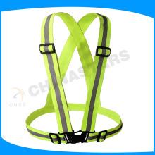 Un tamaño caben todo el cinturón de seguridad reflexivo elástico amarillo fluorescente